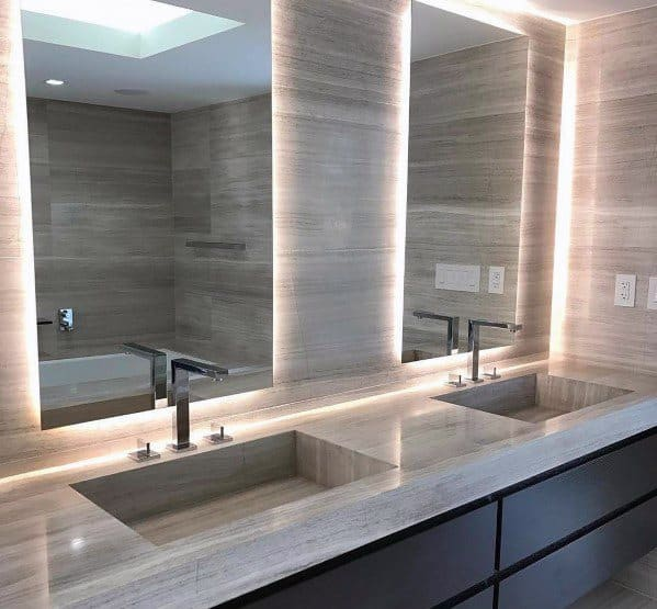 Led Mirror Bathroom Lighting Interior Design