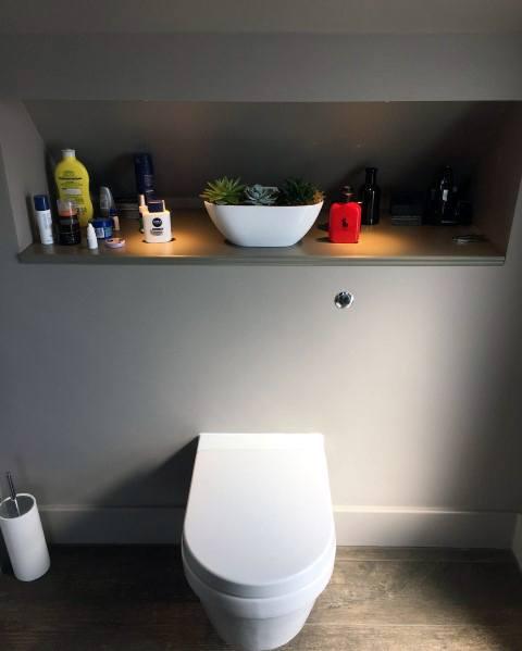 Led Shelf Over Toilet Bathroom Lighting Home Designs