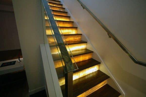 Marvelous Led Treads Ideas For Home Staircase Lighting