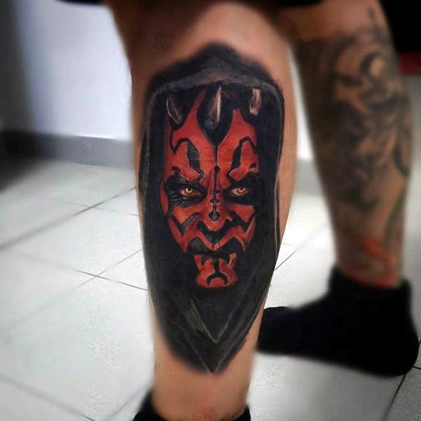 Leg 3d Darth Maul Guys Tattoo Ideas