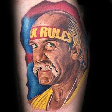 Leg 3d Manly Wrestling Tattoo Design Ideas For Men