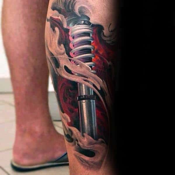Leg 3d Realistic Creative Suspension Tattoos For Men