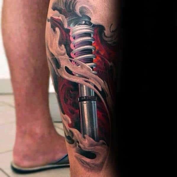Leg 3d Realistic Creative Suspension Tattoos For Men