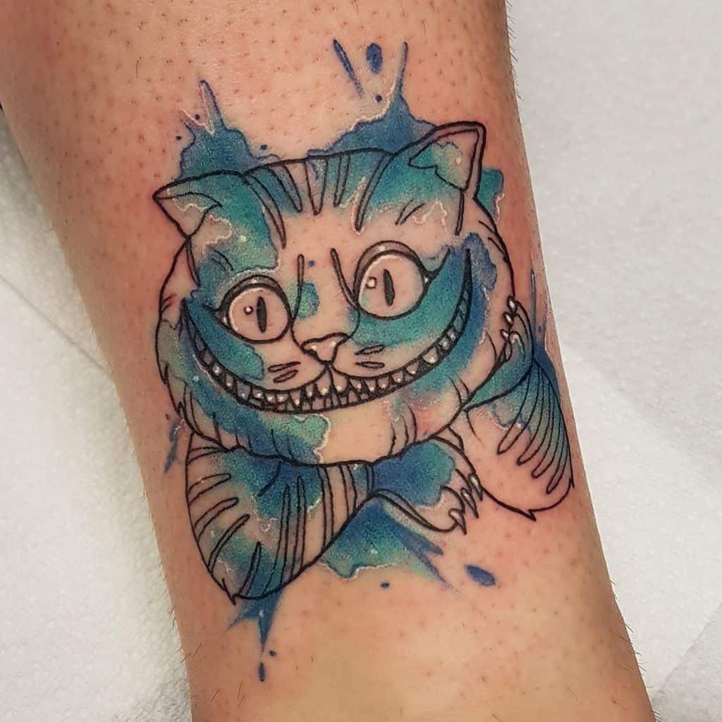 leg alice in wonderland tattoos north_road_tattoo_brighton
