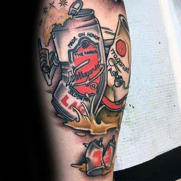 Leg Beer Mens Tattoo Ideas