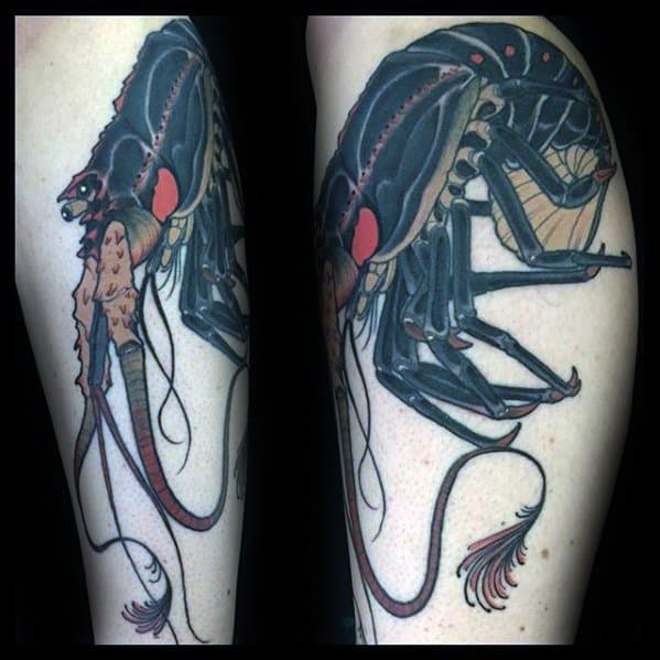 Leg Black Crawfish Guys Tattoos