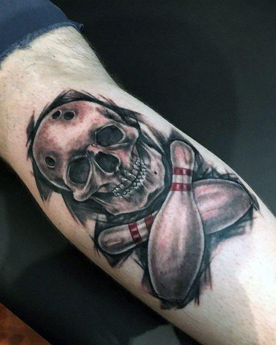 Leg Calf Bowling Mens Cool Sports Tattoo Ideas