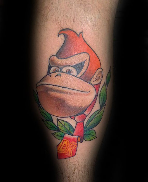 Leg Calf Donkey Kong Guys Video Game Tattoos