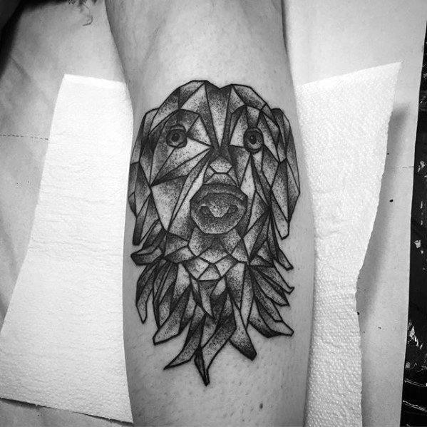 Leg Calf Greyhound Mens Tattoo Ideas
