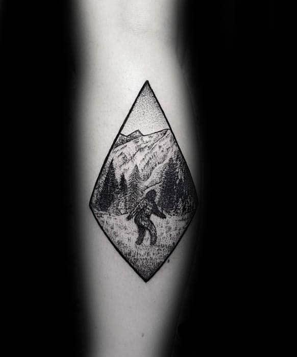 Leg Calf Guys Bigfoot Tattoo Design Ideas