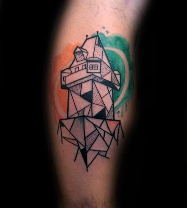 Leg Calf Guys Cubism Tattoos