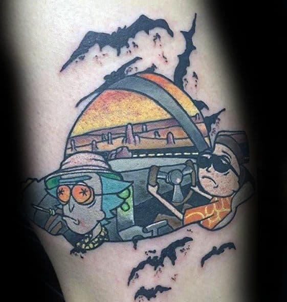 Leg Calf Guys Rick And Morty Tattoos