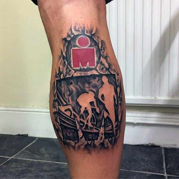 Leg Calf Guys Tattoo Ideas Ironman Designs
