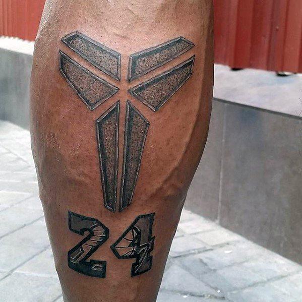 Leg Calf Male Kobe Bryant Tattoo Ideas