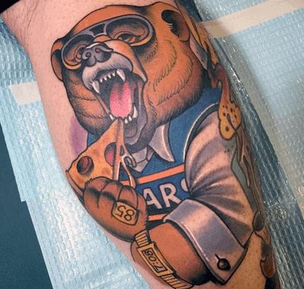 Leg Calf Mens Chicago Bears Tattoo Ideas