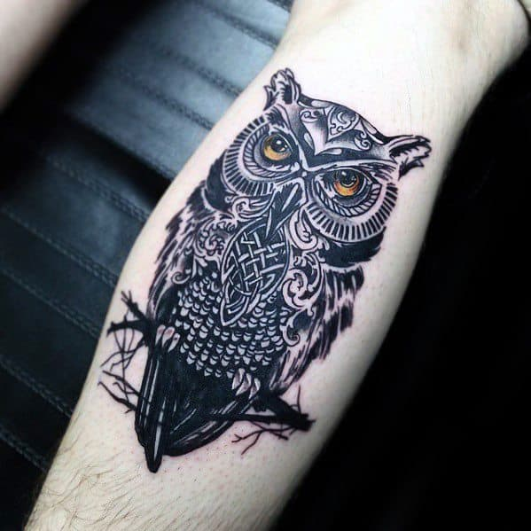 28 Owl Tattoo Designs Ideas: 30 Celtic Owl Tattoo Designs For Men
