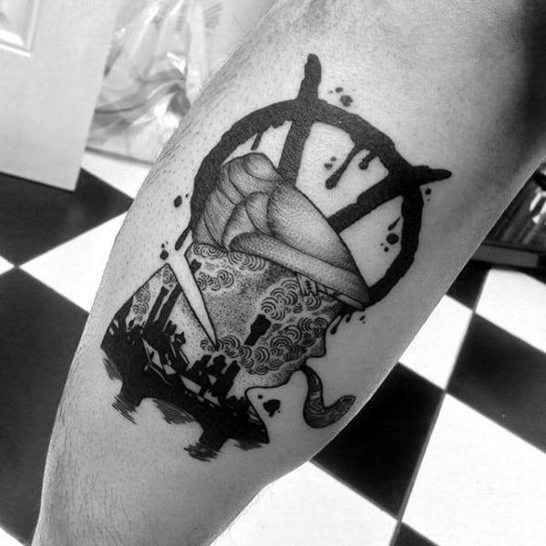 Leg Calf Mens Sherlock Holmes Tattoo Ideas