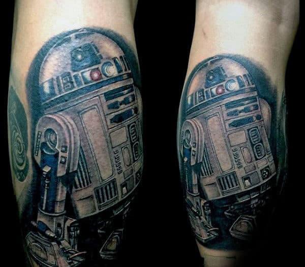 Leg Calf Rd2d Tattoo On Gentleman
