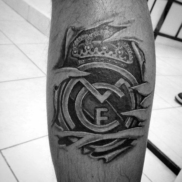 Leg Calf Real Madrid Male Tattoos