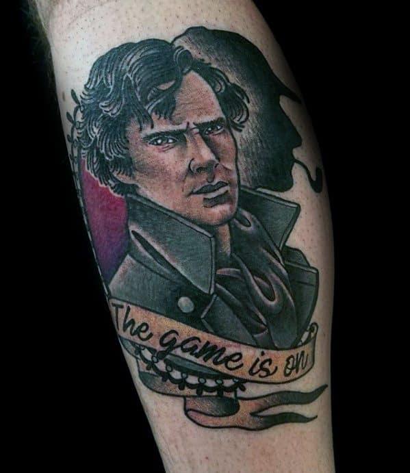 Leg Calf Sherlock Holmes Guys Tattoos