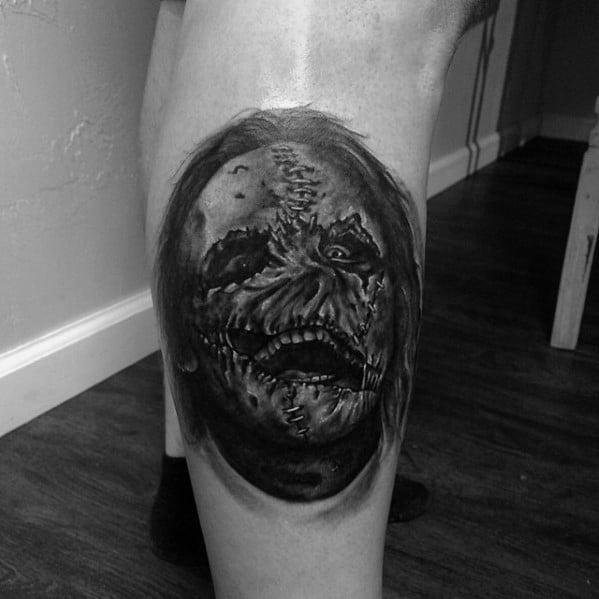 Leg Calf Slipknot Guys Tattoo Designs