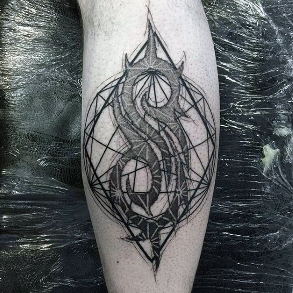 Leg Calf Slipknot Guys Tattoos