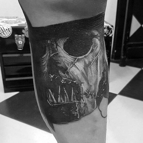 Leg Calf Slipknot Tattoo On Men