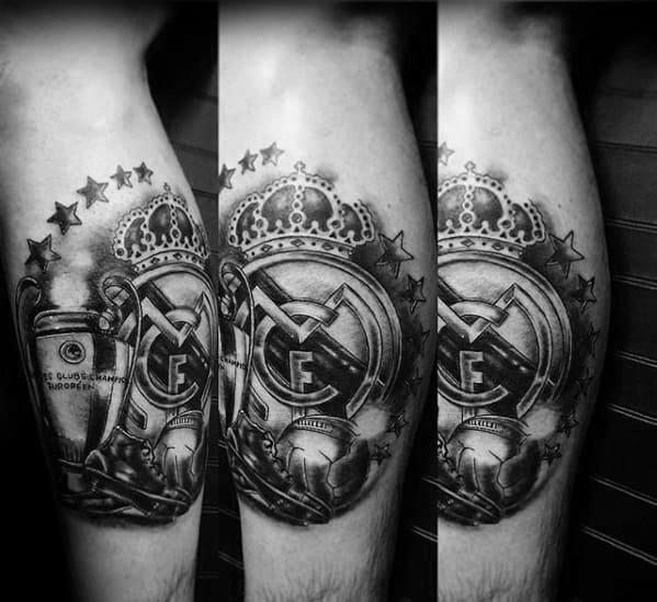Leg Calf Soccer Guys Real Madrid Tattoo Deisgns