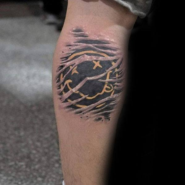 Leg Calf Symbol Awesome Nirvana Tattoos For Men