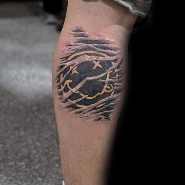 Leg Calf Symbol Awesome Nirvana Tattoos For Men