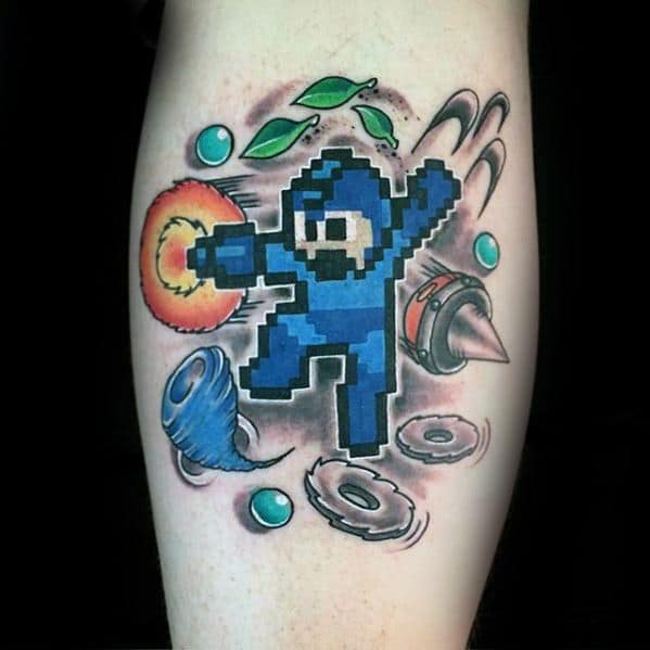 50 Megaman Tattoo Designs For Men