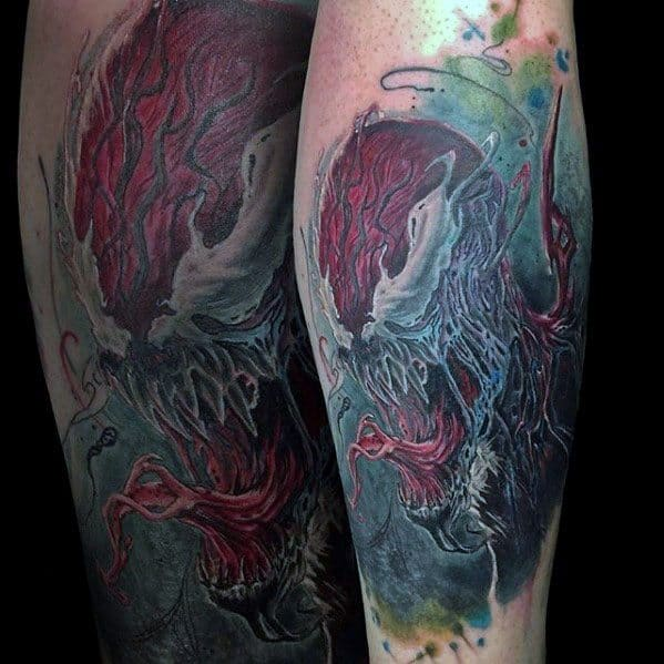 Leg Cool Carnage Tattoo Design Ideas For Male