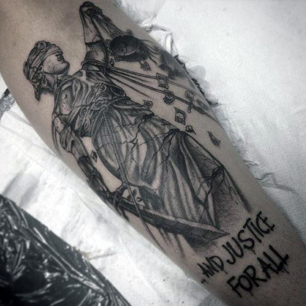 Leg Cool Male Metallica Tattoo Designs