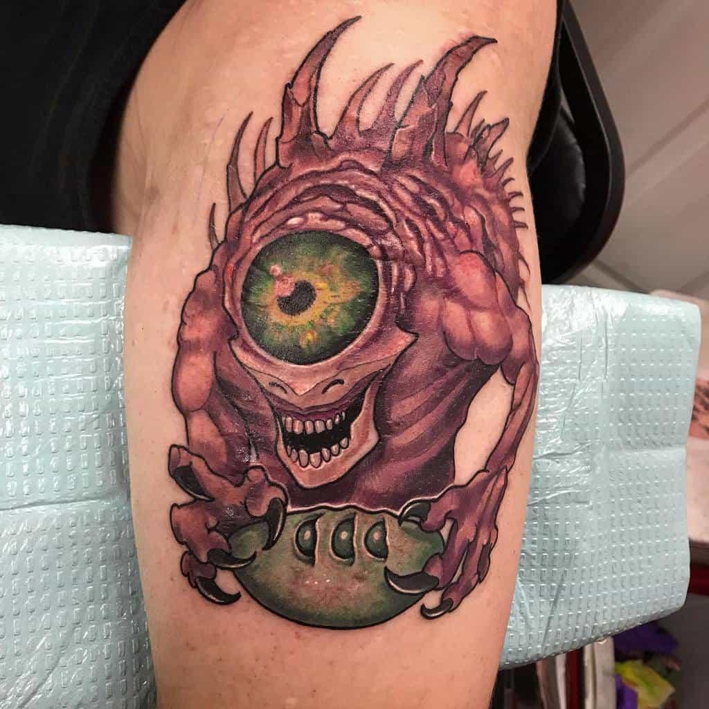 Leg Dungeons And Dragons Tattoos Jrutskiart