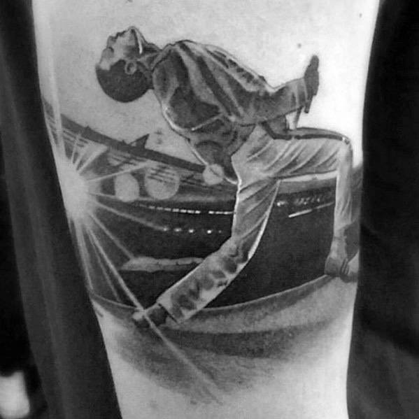 Leg Freddie Mercury Mens Tattoo Ideas