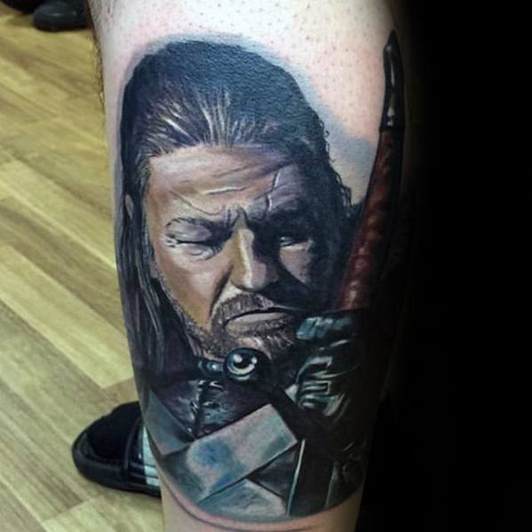 Leg Game Of Thrones Tattoo Designs For Guys