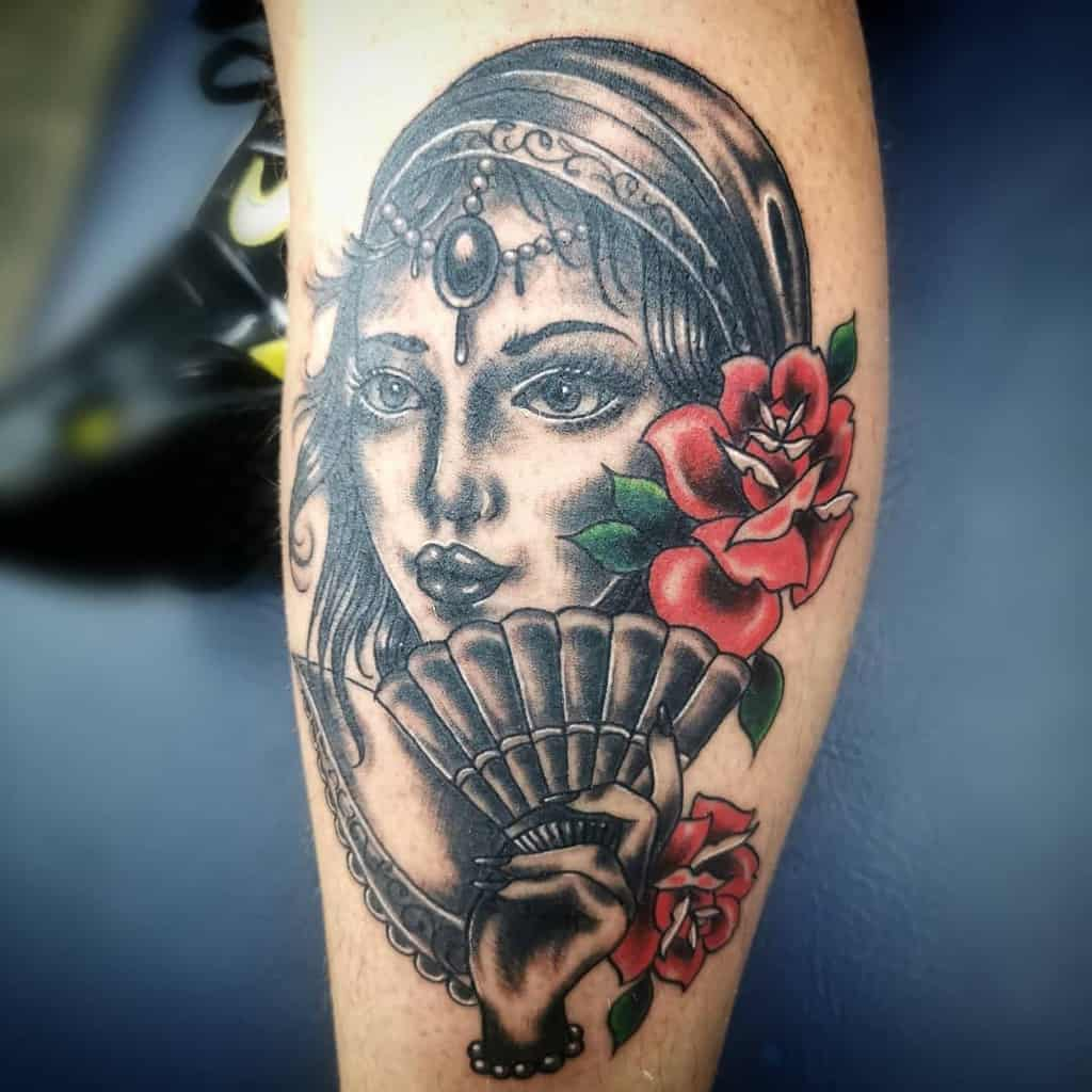 leg gypsy rose tattoos chrishenrytattoos