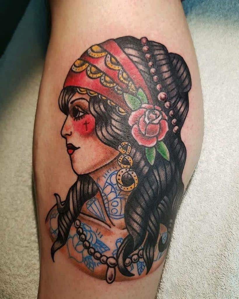 leg gypsy rose tattoos docblackink