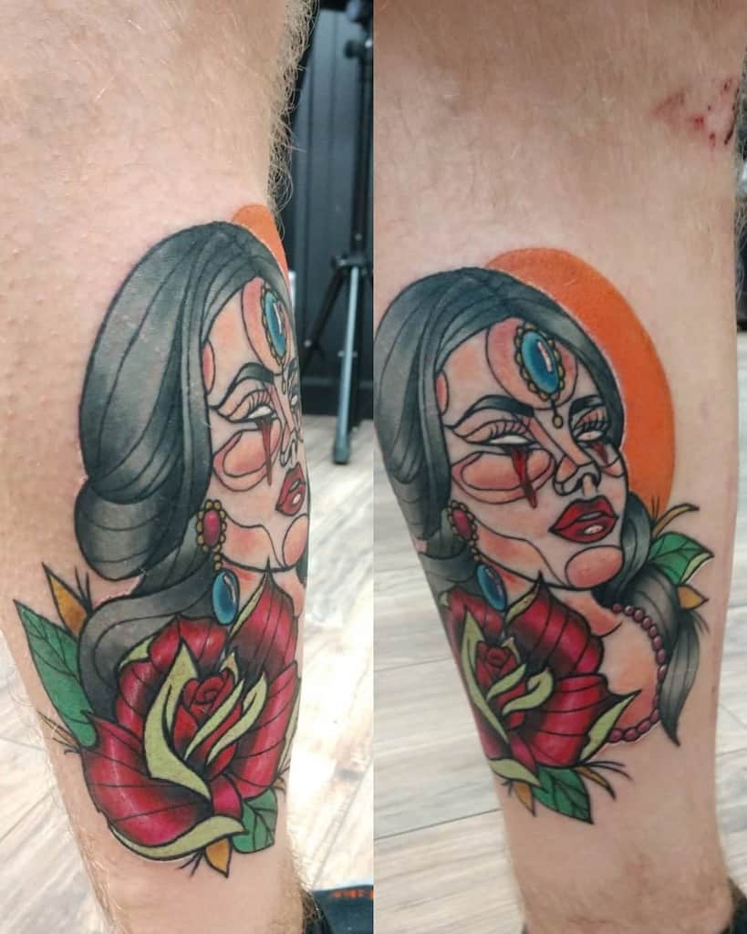 leg gypsy rose tattoos shannonvolz_tattoos