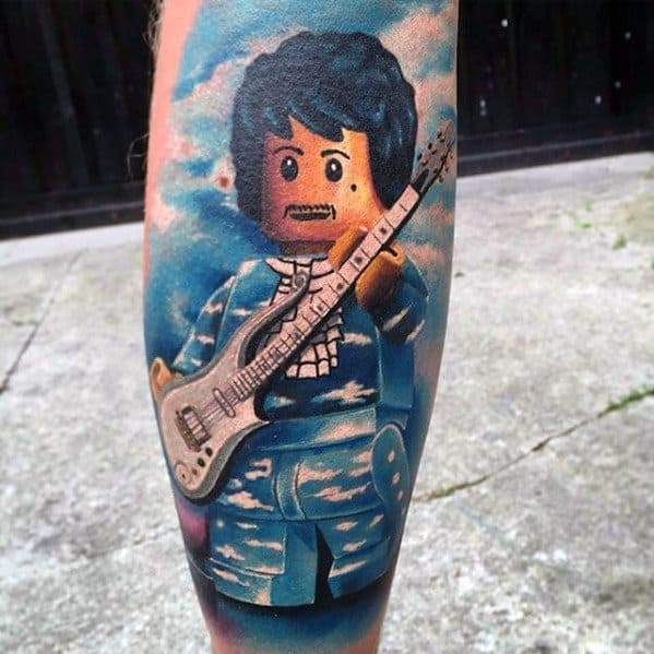 Leg Lego Themed Prince Mens Tattoo Ideas