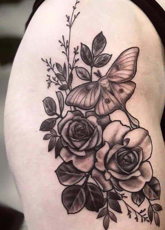 Leg Luna Moth Tattoo Daughterofmars.tattoos