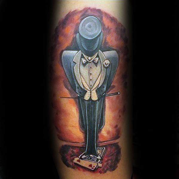 Leg Magician Tattoo Designs For Guys