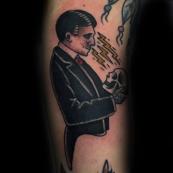 Leg Manly Magician Tattoo Design Ideas For Men