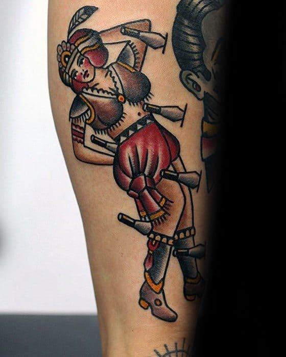 Leg Mens Cool Circus Tattoo Design Inspiration
