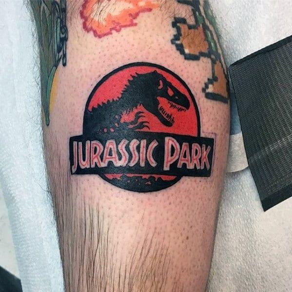 Leg Movie Logo Jurassic Park Guys Tattoo Ideas