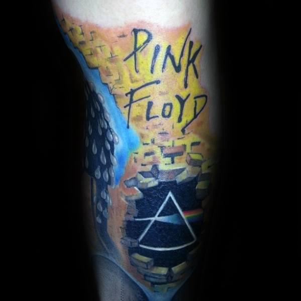 Leg Pink Floyd Tattoo Designs For Guys