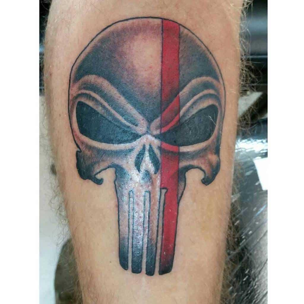 leg punisher skull tattoo brodyflynntattoos