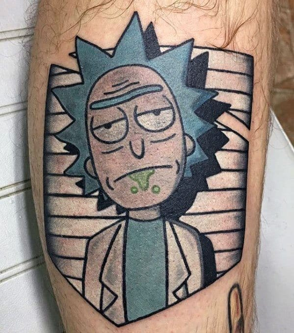 Leg Rick And Morty Tattoo Designs For Guys
