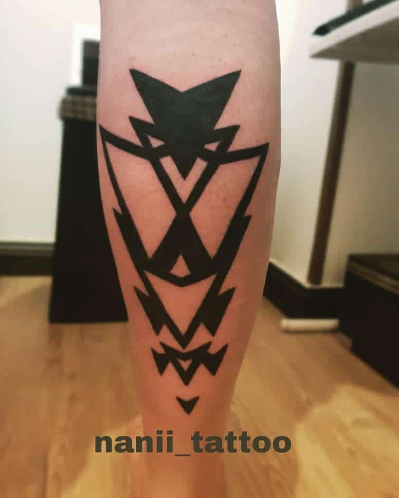 leg simple tribal tattoos nanii_tattoo