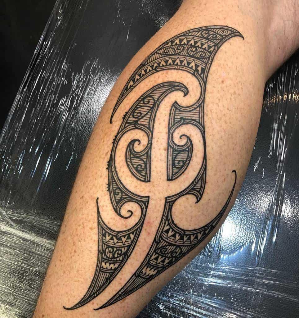 leg simple tribal tattoos teau_designs